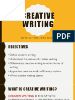 Creative Writing Lesson 1 December 3
