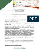 Compte-rendu Conseil Des Ministres - Jeudi 20 Décembre 2018 (2)
