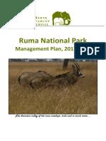 Ruma National Park Management Plan (2012 -2017)