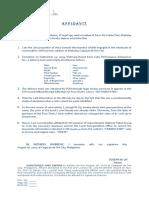 Affidavit - Joseph Uy - LTO
