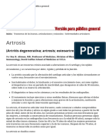 Artrosis - Trastornos de Los Huesos, Articulaciones y Músculos - Manual MSD Versión Para Público General