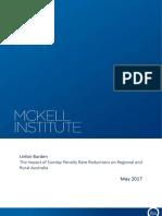 The McKell Institute Unfair Burden