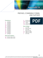 Appendix a Prefixes, Combining Forms, And Suffixes