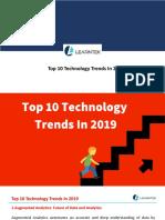 Top 10 Technologies Trending in 2018