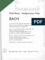 BACH - Sonata for Flute & Continuo BWV. 1033 (C) - Continuo Score