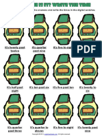 what time is it green digital clock worksheet.pdf