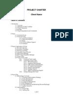SAP Project Charter