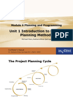 06 1DHM Planning Methods