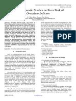 Pharmacognostic Studies on Stem Bark of Oroxylum Indicum