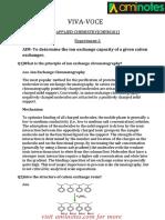 Applied Chemistry- VIVA VOICE