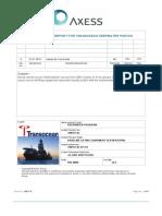 700157-02-471-01 Deepwater Poseidon Field Service Report