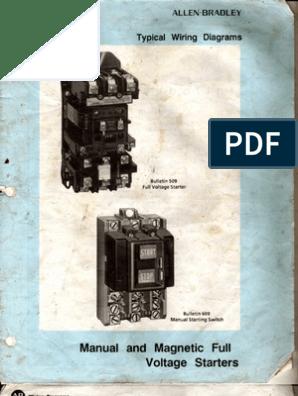 Allen Bradley 509-Bab-1 Magnetic Motor Controller Size 1 Starter Wiring Diagram from imgv2-2-f.scribdassets.com