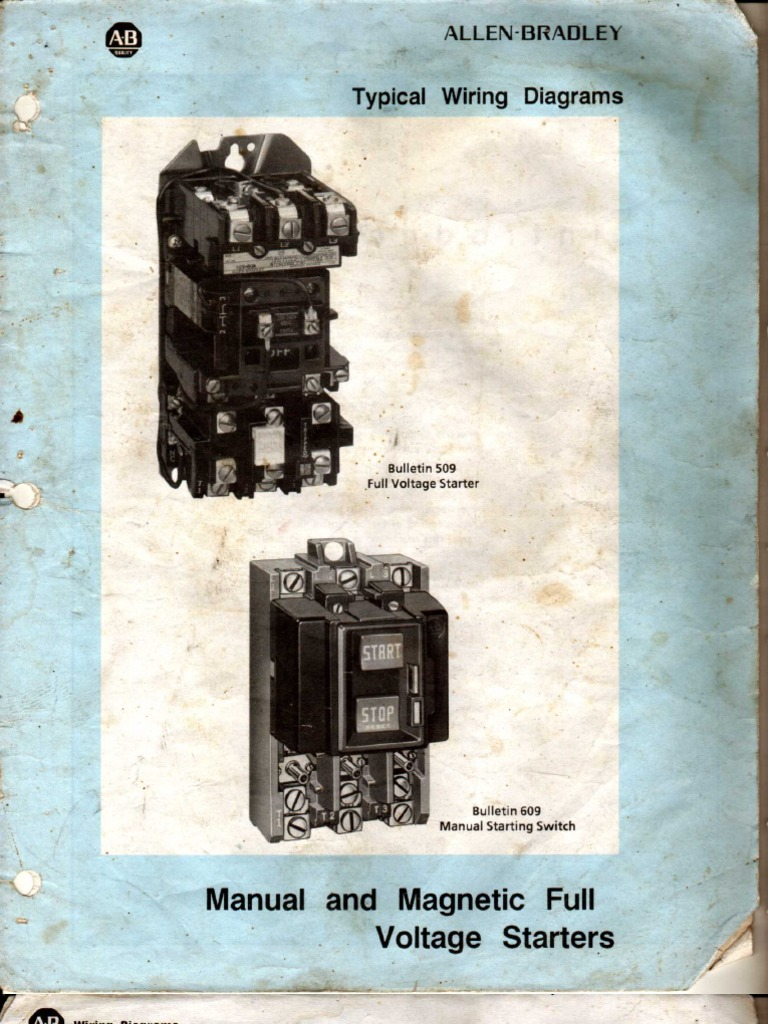 Allen Bradley Manual And Magnatic Full Voltage Starter Wiring Diagram Diagrams Which Are In The Installation Often