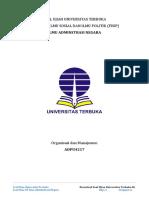 Latihan Ujian UT Ilmu Administrasi Negara ADPU4217 Organisasi Dan Manajemen