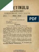 Ediţiune Oficială, Nr. 01, 1859