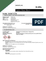 SDS R600a Isobutane