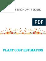 3. Plant Cost Estimation