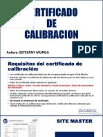 TEC-I-06 Certificado de Calibración