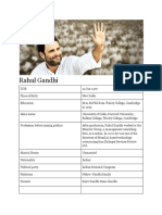 Rahul Gandhi Bio