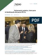 Elecciones Andaluzas_ El Control Del Parlamento Andaluz, Clave Para El Desbloqueo Del Pacto PP-Cs _ Andalucía