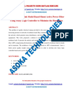 MATLAB-Simulink Model Based Shunt Active Power Filter Using Fuzzy Logic Controller to Minimize the Harmonics