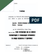 Etude Systematique Sur Les Modules Pluviometriques