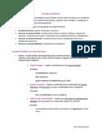 Funções Sintáticas  - Resumos de Português