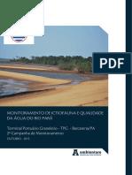 Relatório Campanha Fauna Aquática Ago2015