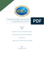 Laboratorio Modulación Demodulación Am