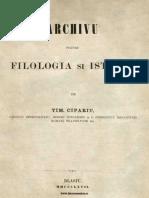 Archivu Pentru Filologia Şi Istoria, Nr. 01, 1 Ianuarie 1867