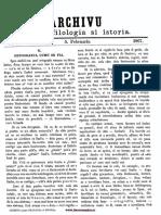 Archivu Pentru Filologia Şi Istoria, Nr. 02, 5 Februarie 1867
