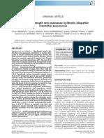 Quadriceps Strength and Endurance in Fibrotic Idiopathic Interstitial Pneumonia