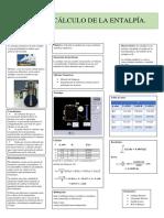 Poster calcular la entalpia de un gas mediante metodos numericos.