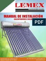 Manual de instalación de calentador solar