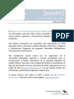 Boletin SAAP Marzo 2014