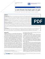 Effects of obesity and chronic low back pain on gait