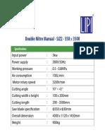 Double Mitre Manual Sjz2 350 x 3500 Spec