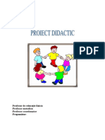 Proiect Didactic Sport
