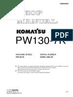 Komatsu PW130-7K Hydraulic Excavator Service Repair Manual SN:K40001 and up.pdf