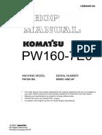 Komatsu PW160-7E0 Hydraulic Excavator Service Repair Manual SN:H55051 and up.pdf