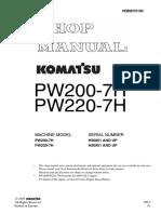 Komatsu PW200-7H Hydraulic Excavator Service Repair Manual SNH50051 and up.pdf