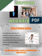La Critica Negativa