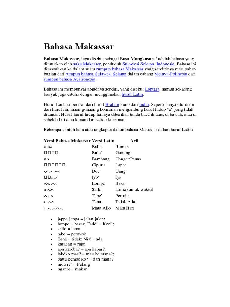 Bahasa Makassar Docx
