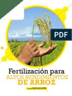 Fertilizacion para altos rendimientos en Arroz PDF