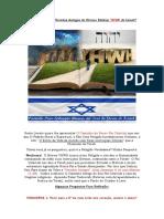 Você Conhece as Veredas Antigas Do Eterno Elohim YHWH de Israel
