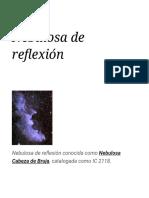 Nebulosa de Reflexión