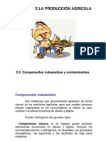Componentes Indesables (antinutrientes)