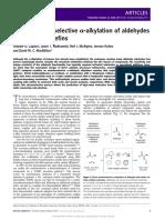 MacMillan Alkylation using Thiophenols.pdf