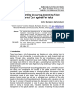 Debate regarding measuring accounting value