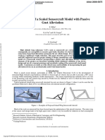 Optimisation of a Scaled Sensorcraft Model With Passive Gust Alleviation